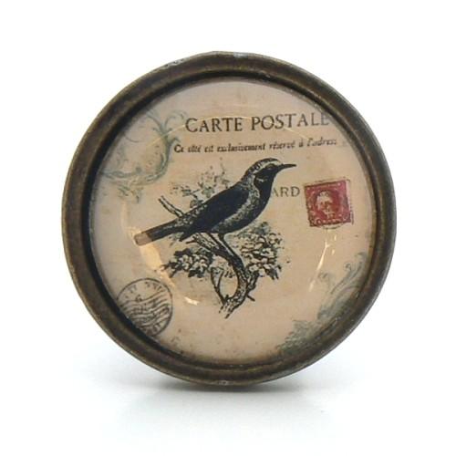 bouton de meuble oiseau noir collection vintage boutons. Black Bedroom Furniture Sets. Home Design Ideas